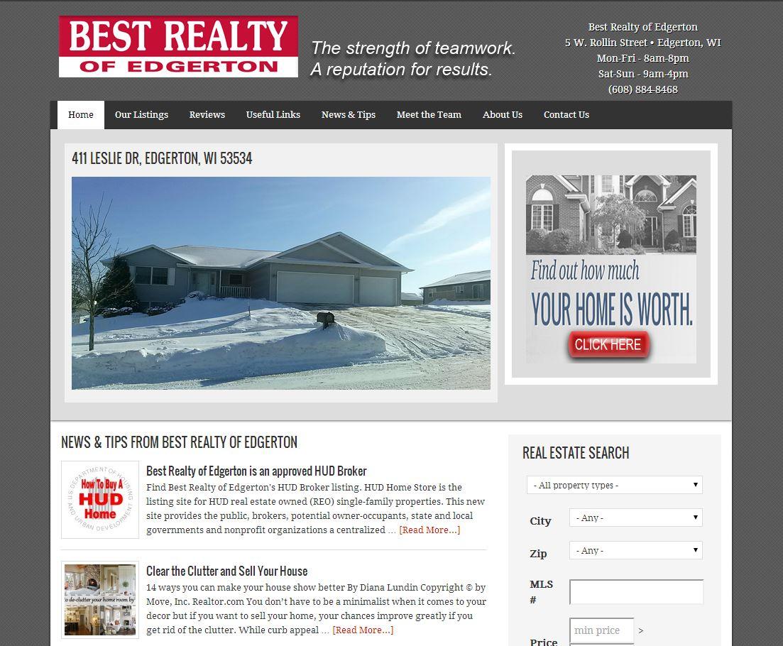Best realty of edgerton website design firepoint media for Best websites for sales