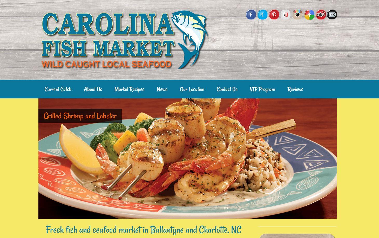 Carolina fish market website design firepoint media for Fish market charlotte nc
