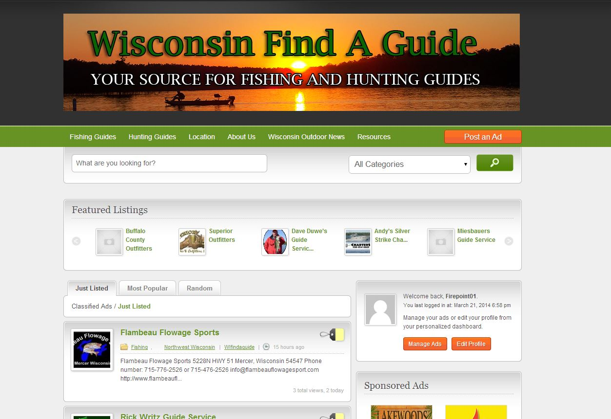 Wisconsin Find A Guide Website Design Firepoint Media